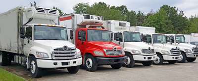 hino trucks reefer refrigerated vans